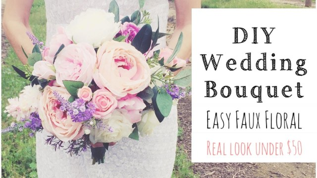 Wedding Bouquets Diy How To Make A Wedding Bouquet Diy Real Look Faux Floral Bouquet