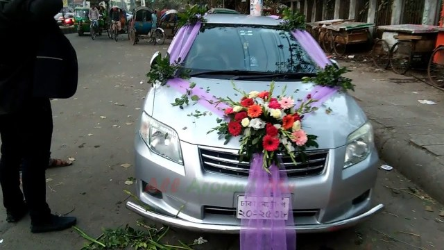 Wedding Car Decorations Ideas Wedding Car Decoration Tutorial Decoration For Home