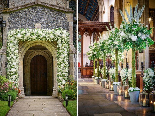 Wedding Chapel Decorations 10 Ways To Decorate Your Wedding Venue With Flowers