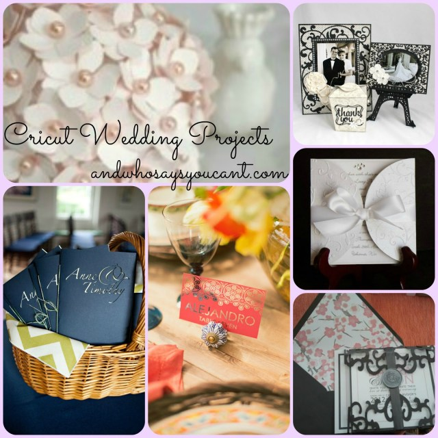 Wedding Cricut Projects And Who Says You Cant Diy Wedding Projects With Your Cricut