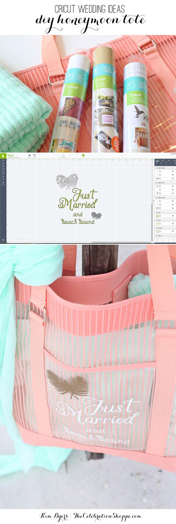 Wedding Cricut Projects Honeymoon Beach Tote 10000 Cricut Diy Wedding Giveaway The
