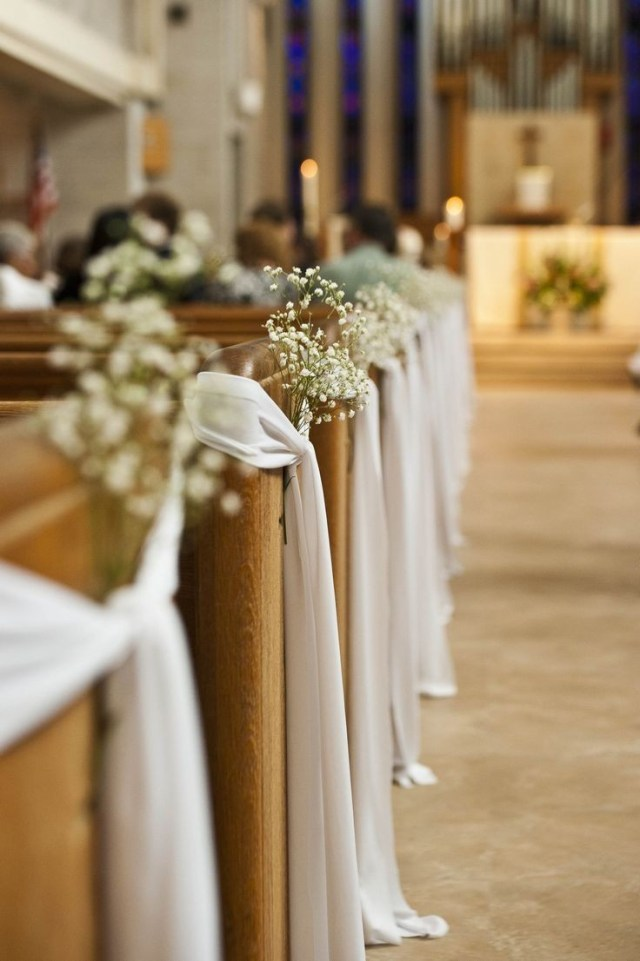 Wedding Decor Diy Ideas Wedding Pewions Imagesion Tulle And Staggering Pews Photo
