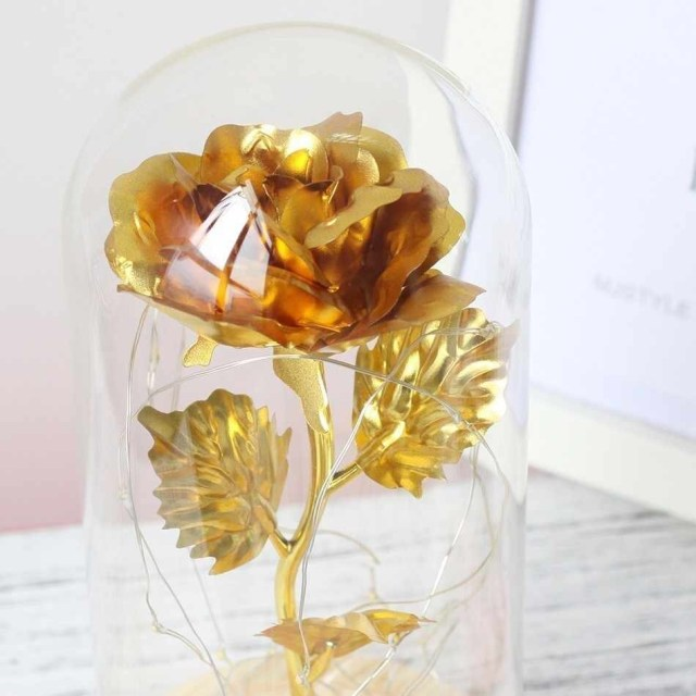 Wedding Decor Gold Detail Feedback Questions About 24k Gold Rose Foil Plated Gold Rose