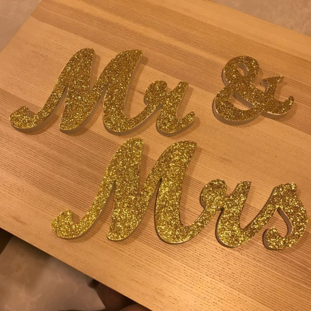 Wedding Decor Gold Wedding Decor Gold Glitter Mr Mrs Sign Everything Else On Carousell