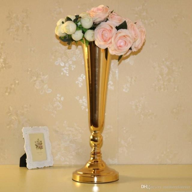 Wedding Decor Gold Wedding Decoration Gold Floor Vase Metal Flower Vase Table