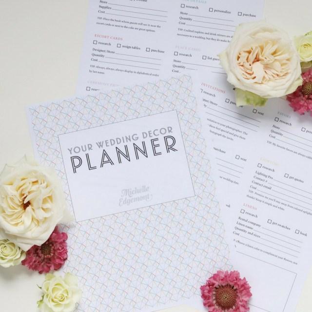 Wedding Decor List Free Printable Wedding Decor Checklist Fun365