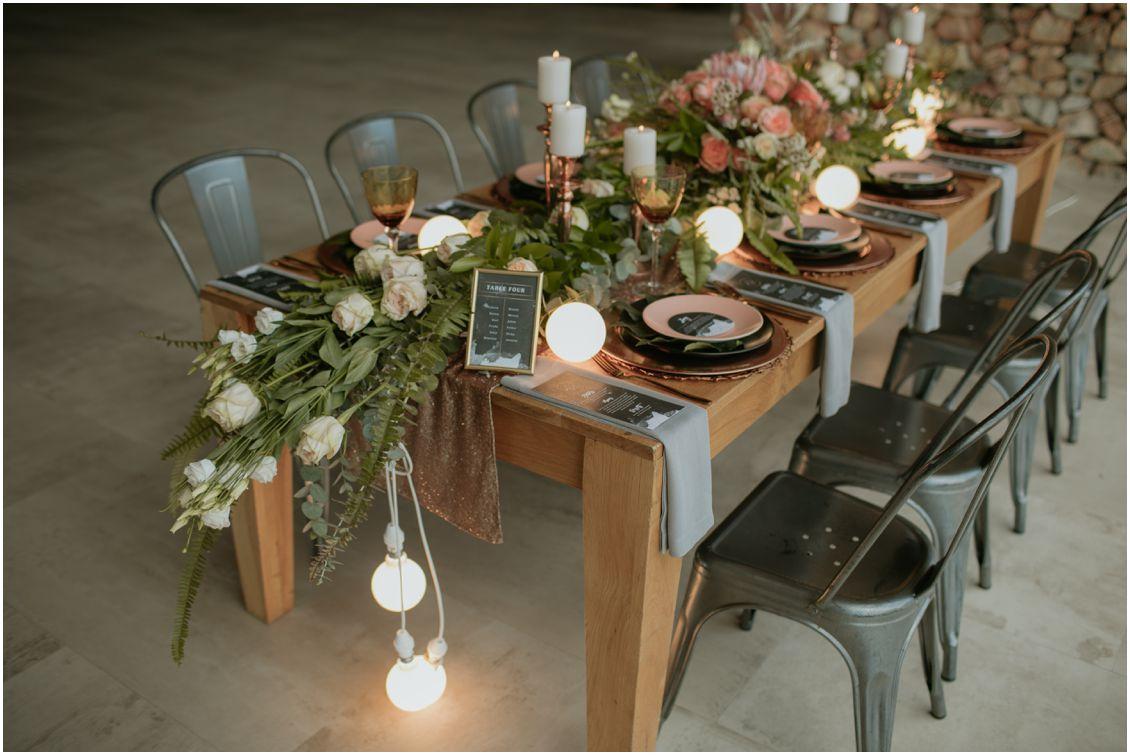 Wedding Decoration Ideas Industrial Wedding Decor Inspiration Metalic Tones Green Pink Book