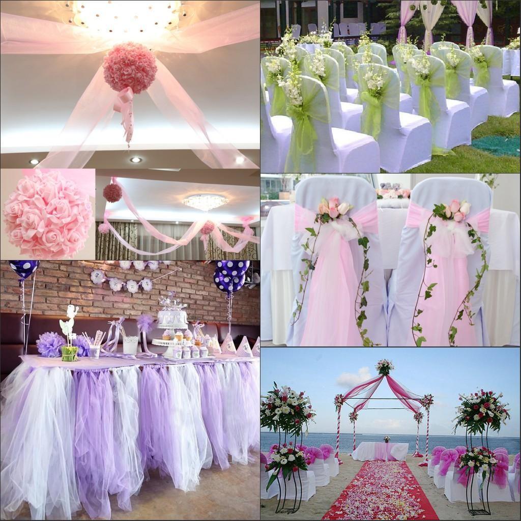 Wedding Decorations Colorful Colors Organza Material Wedding Decorations At Diy Tulle Wedding