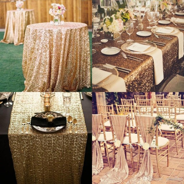 Wedding Decorations Colorful Great Gats Custom Made Sequined Wedding Accessories For Tables And