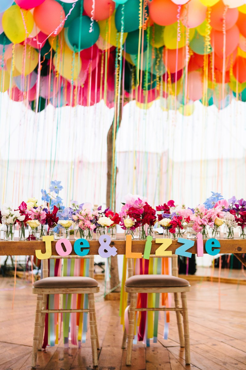 Wedding Decorations Colorful Lizze Joes Incredible Colourful Flower Filled Festival Wedding