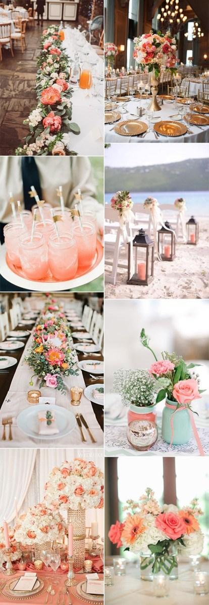 Wedding Decorations Colorful Wedding Decoration Coral Wedding Decorations Coral Wedding Colors
