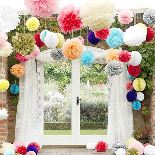 Wedding Decorations Colorful Wedding Decorations Colored Paper Flower Ball Wedding Marriage Room