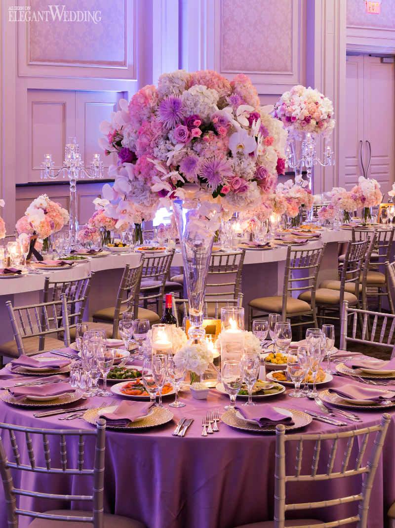 Wedding Decorations Elegant Beautiful Pink And Purple Wedding Elegantweddingca