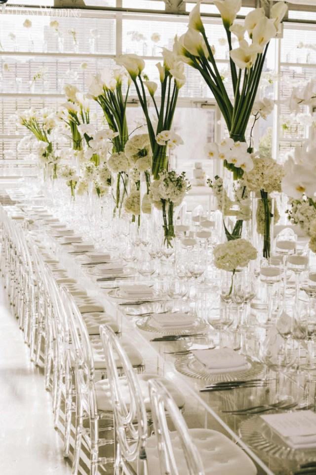 Wedding Decorations Elegant Modern White Wedding With Clear Decor Elegantweddingca