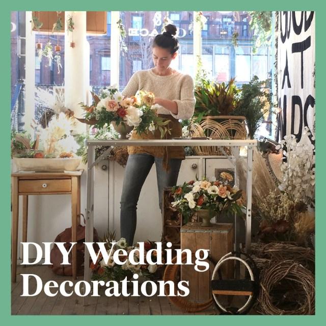 Wedding Diy Decorations 13 Diy Wedding Decorations For The Ceremony And Reception Brides