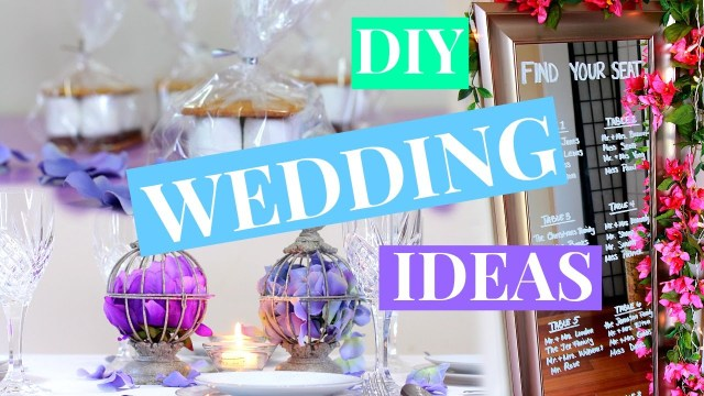 Wedding Dyi Decorations 3 Easy Wedding Decor Ideas Wedding Diy Nia Nicole Youtube