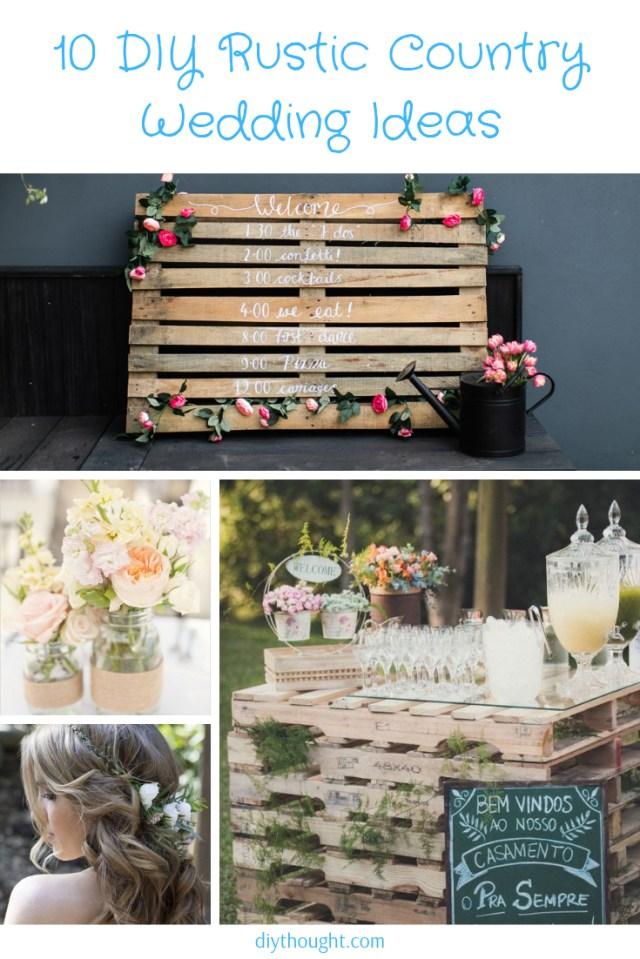 Wedding Dyi Ideas 10 Diy Rustic Country Wedding Ideas Diy Thought
