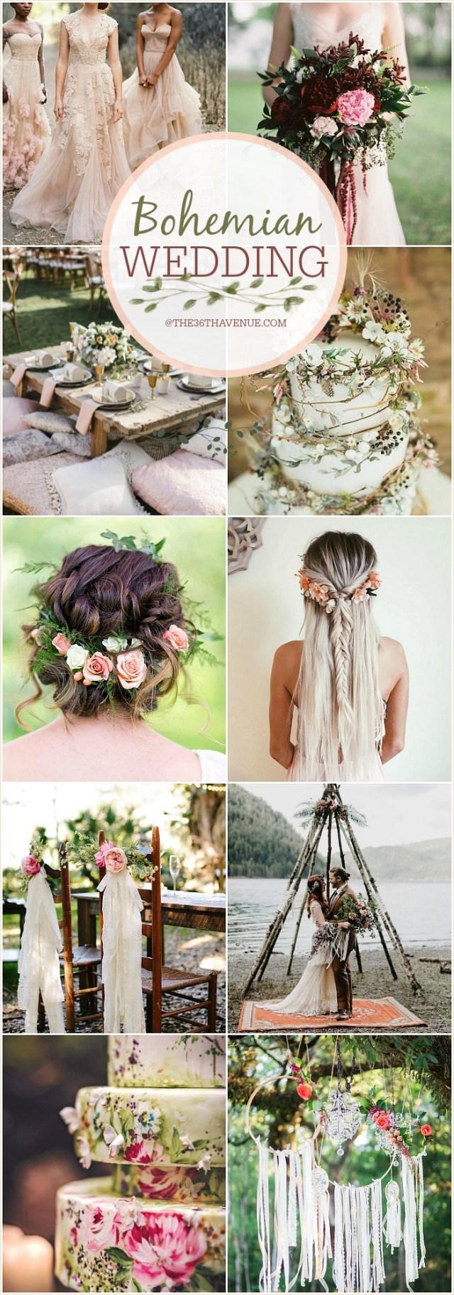 Wedding Dyi Ideas Bohemian Wedding Ideas Diy Boho Chic Wedding The 36th Avenue