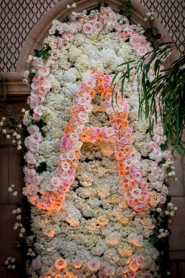 Wedding Initial Decor Ceremony Dcor Photos Hydrangea Flower Wall With Rose Initial