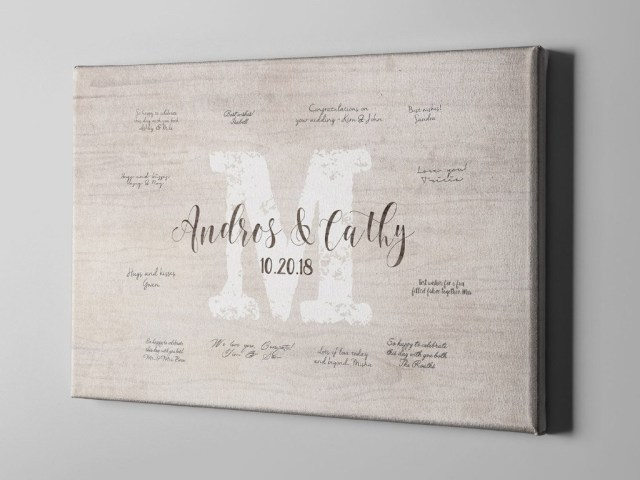 Wedding Initial Decor Sale 50 Off Monogram Canvas Guest Book Last Name Initial Guest