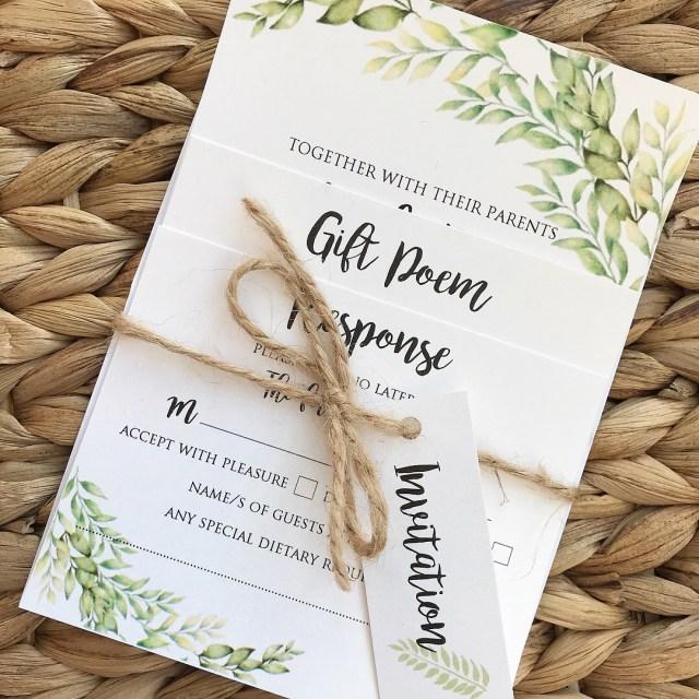 Wedding Invitation Bundles Floral Water Colour Wedding Invitations Wedding Stationery Bournemouth