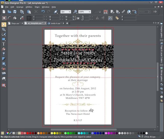Wedding Invitation Creator Creating A Wedding Invitation