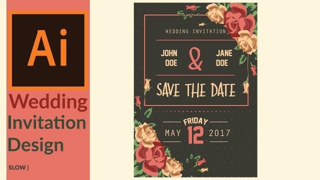 Wedding Invitation Creator Modern Wedding Invitation Designing In Adobe Illustrator Youtube