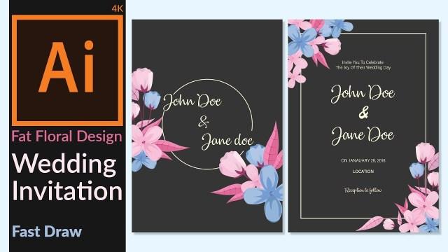 Wedding Invitation Creator Wedding Invitation Card Designing In Adobe Illustrator Cc