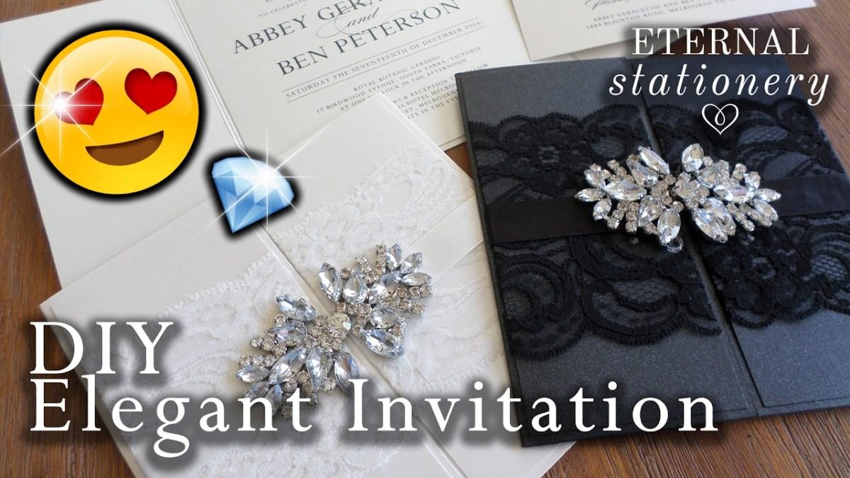 Wedding Invitation Diy How To Make An Elegant Gatefold Wedding Invitation Diy Invitations
