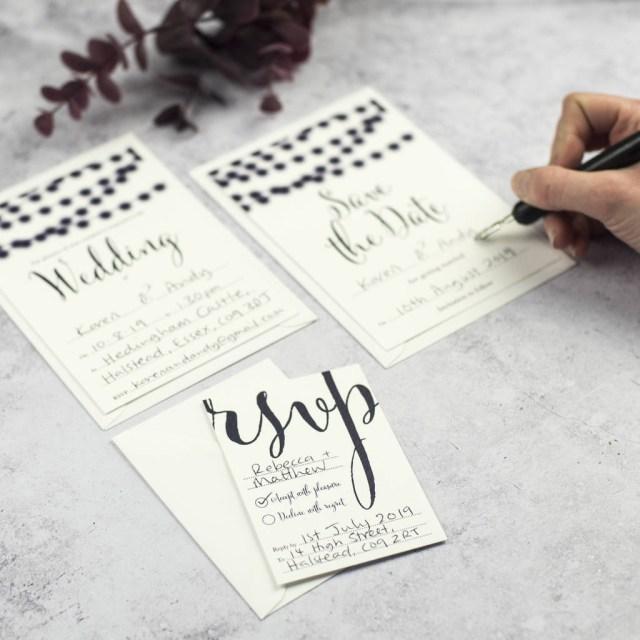 Wedding Invitation Diy Nightgarden Diy Wedding Invitation Set