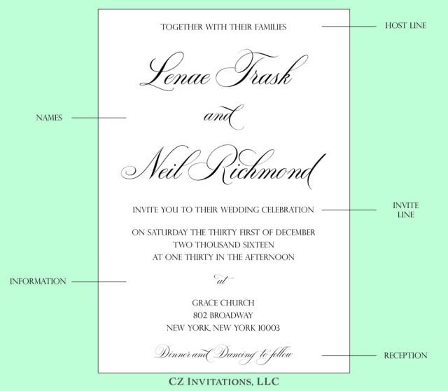 Wedding Invitation Example How To Wedding Invitation Wording Cz Invitations