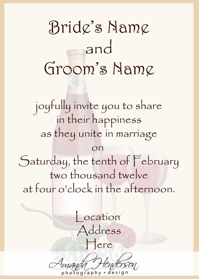 Wedding Invitation Example Wedding Invitation Wording Samples 21st Bridal World Wedding