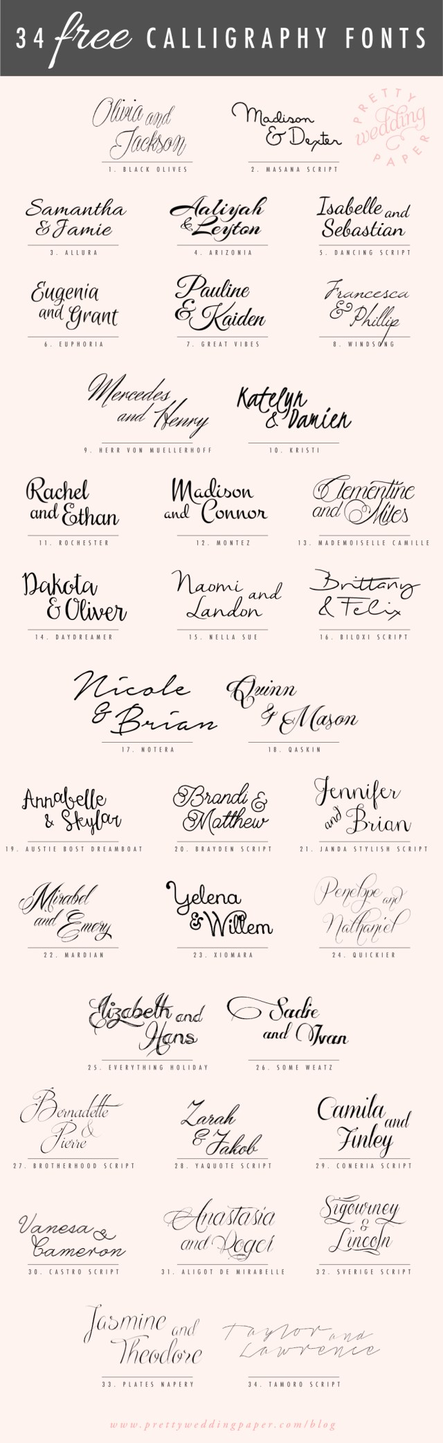 Wedding Invitation Font 34 Free Calligraphy Script Fonts For Wedding Invitations