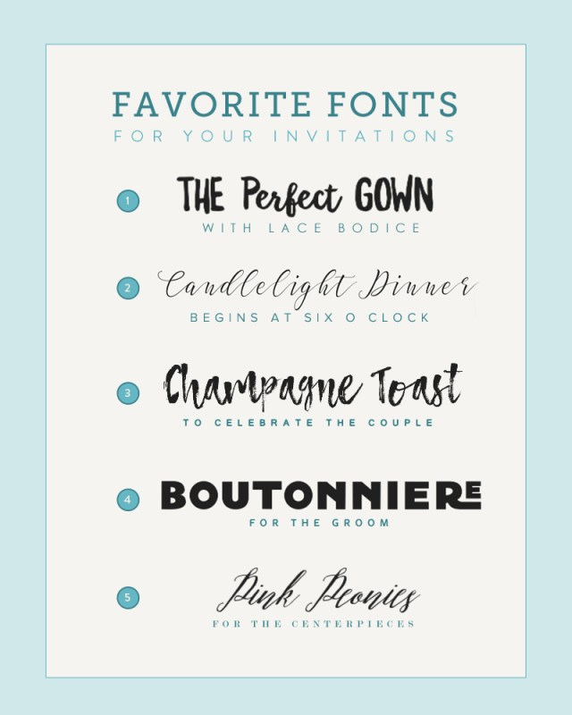 Wedding Invitation Font Five Font Pairings For Invitations The Budget Savvy Bride