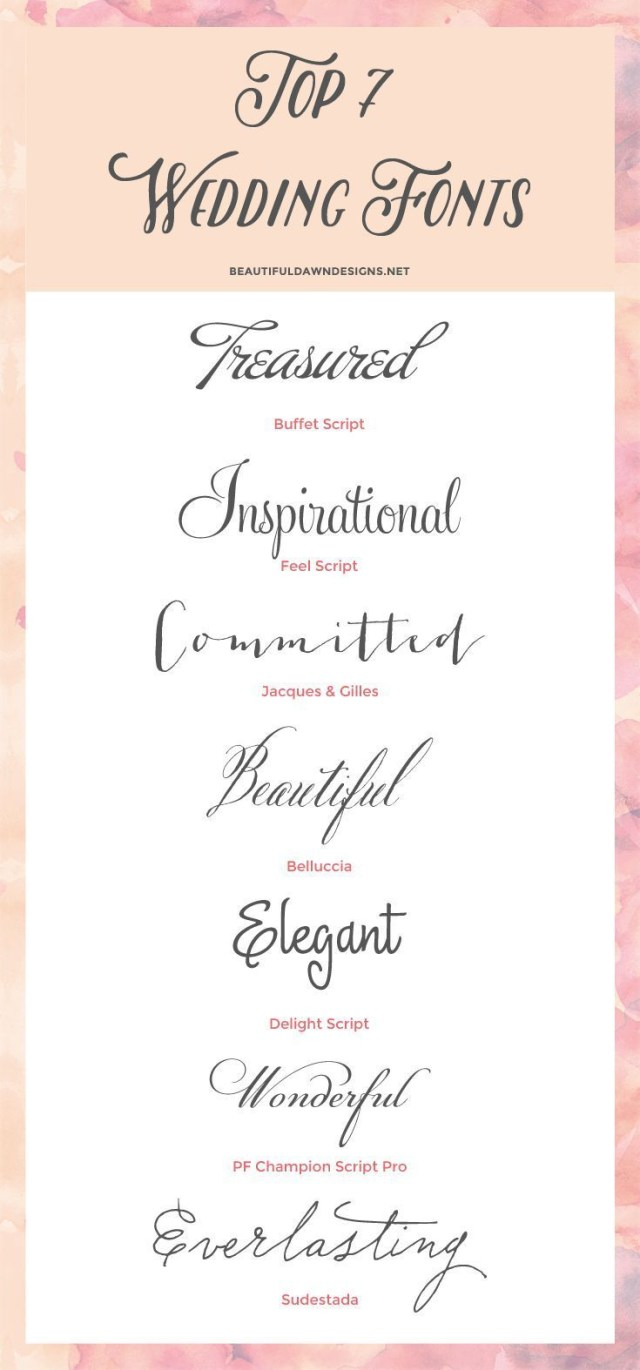 Wedding Invitation Font My Top 7 Fonts For Weddings Save The Date Wedding Invitations