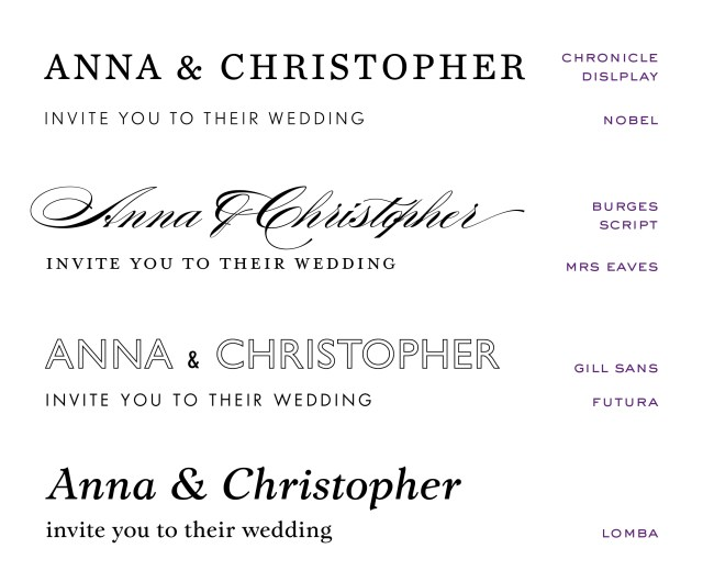 Wedding Invitation Font Wedding Invitation Fonts At Emily Jo