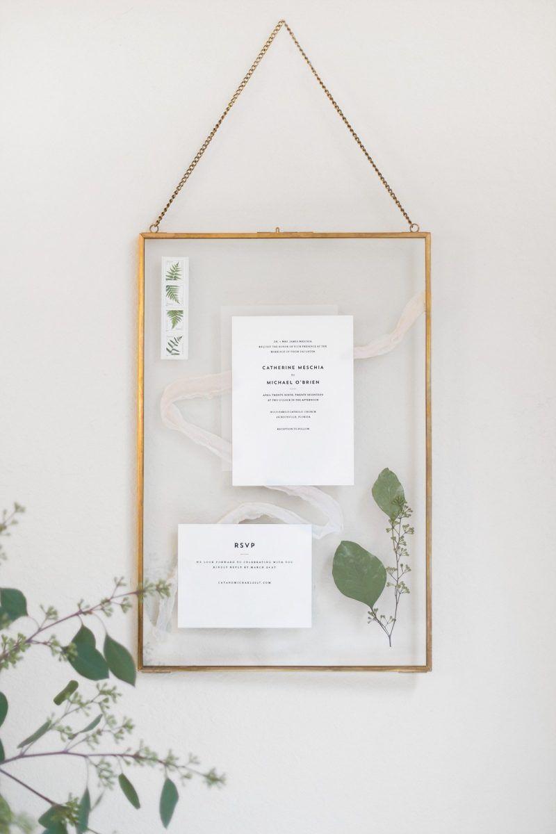 Wedding Invitation Keepsake Display Your Wedding Invites Forever With This Diyed Invitation