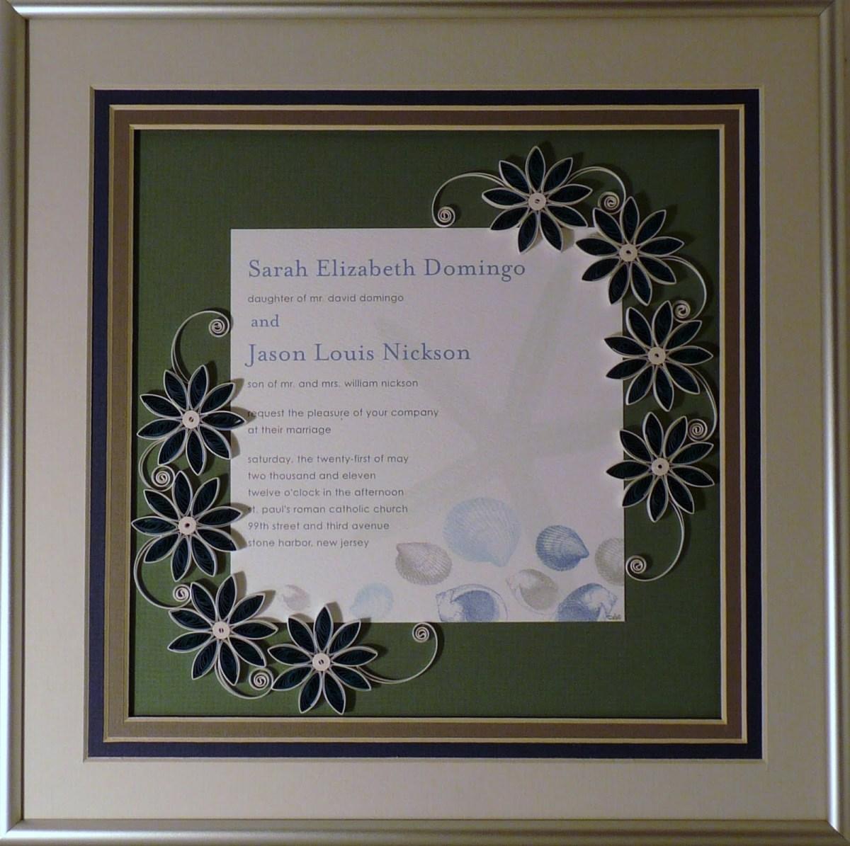 Wedding Invitation Keepsake Quilling Sandra White Custom Quilled Wedding Invitation Keepsakes