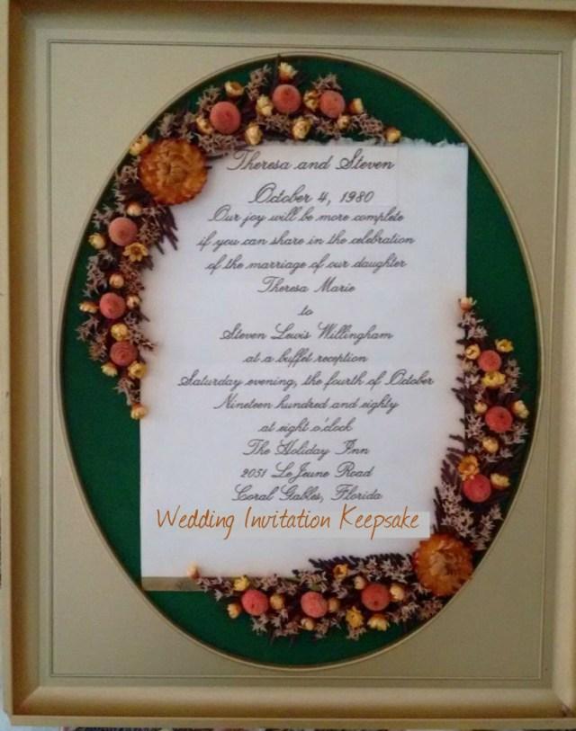 Wedding Invitation Keepsake Wedding Invitation Keepsake 4 Steps