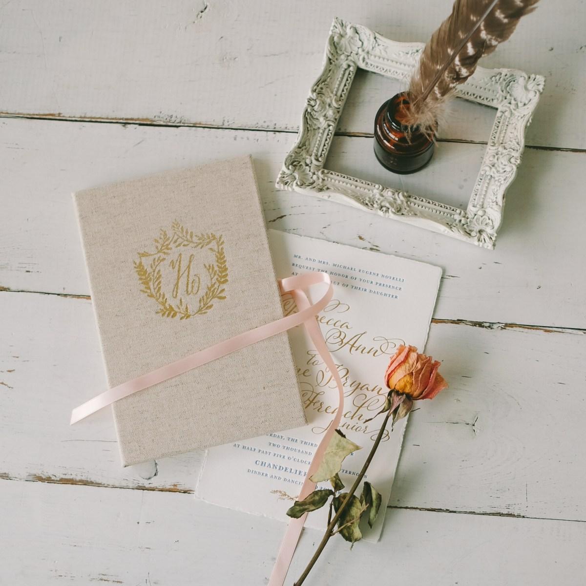 Wedding Invitation Keepsake Wedding Invitation Keepsake Book Custom Made Blue Sky Papers