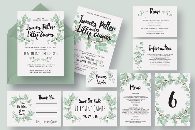 Wedding Invitation Packets Packages