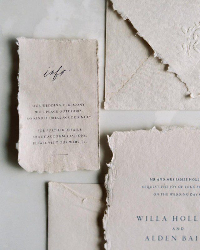 Wedding Invitation Paper Where To Find Handmade Deckle Edge Paper