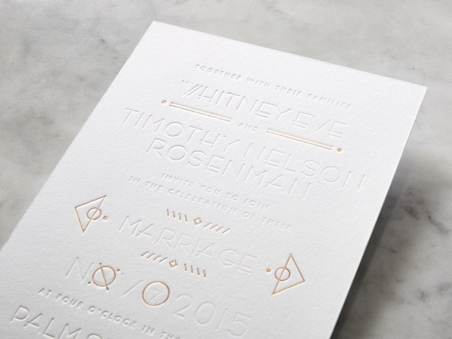 Wedding Invitation Paper Whitney Port Shows Us Her Wedding Invites And The Easy Way She