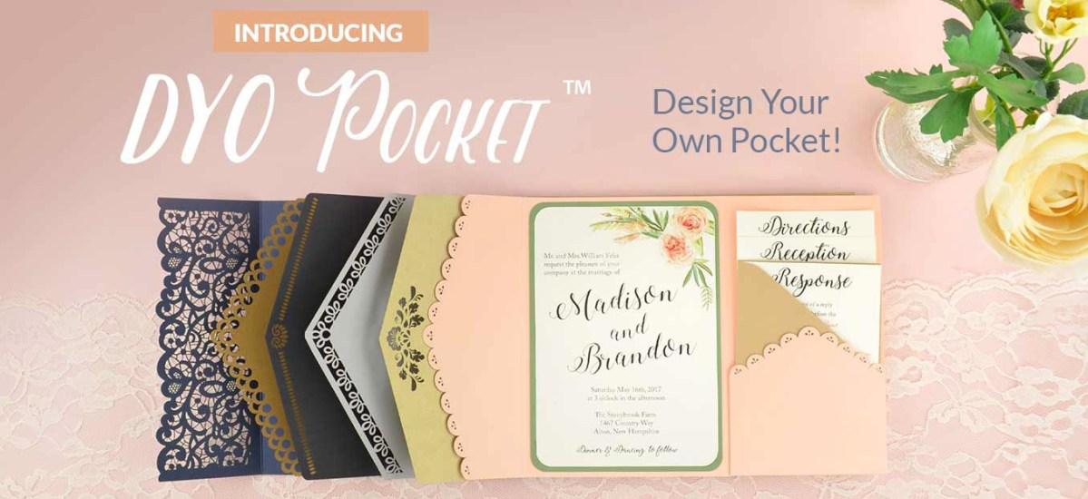 Wedding Invitation Pockets Cards Pockets Diy Wedding Invitation Supplies