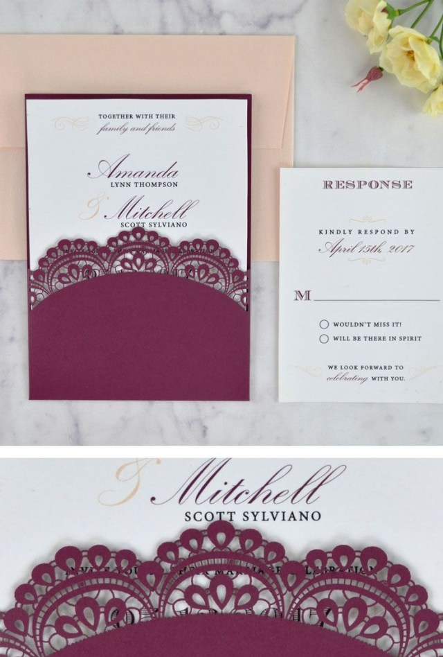 Wedding Invitation Pockets Pin Cards Pockets Diy Wedding Invitations On Cards Pockets