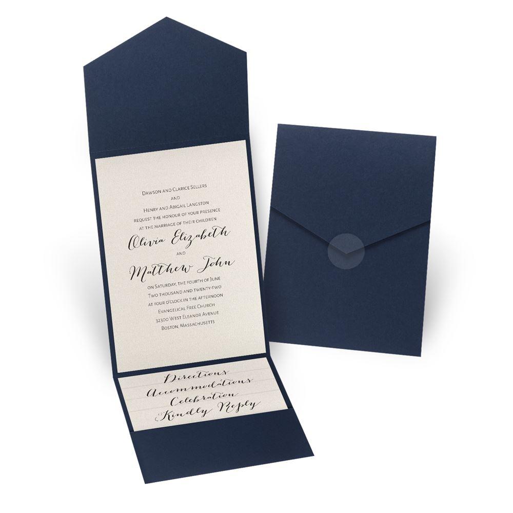 Wedding Invitation Pockets Total Elegance Pocket Invitation Invitations Dawn