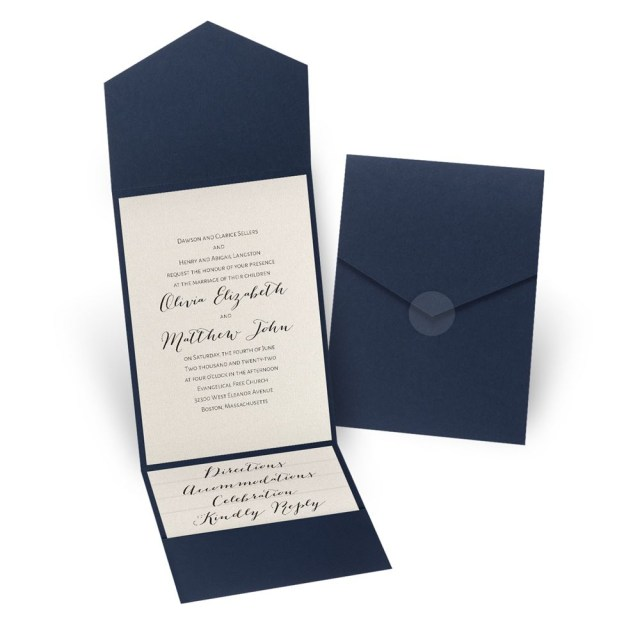 Wedding Invitation Pockets Total Elegance Pocket Invitation Invitations Dawn