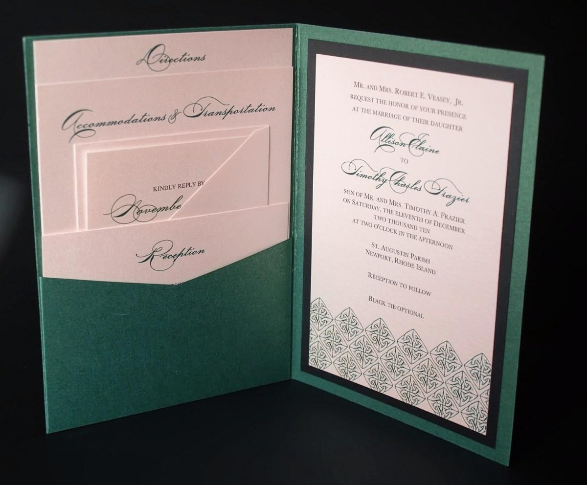 Wedding Invitation Pockets Wedding Invitations Folded Pocket Wedding Invitation Collection