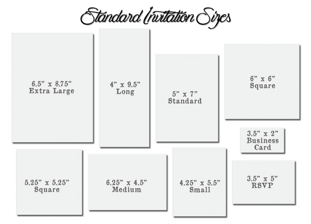 Wedding Invitations Sizes: 30+ Elegant Image Of Wedding Invitation Size