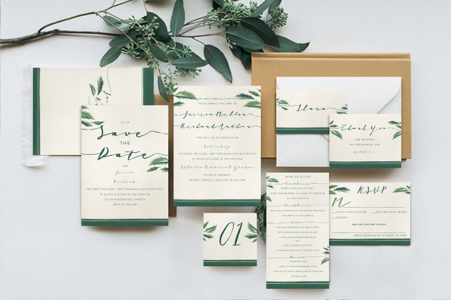 Wedding Invitation Suite Classy Tropical Wedding Invitation Suite
